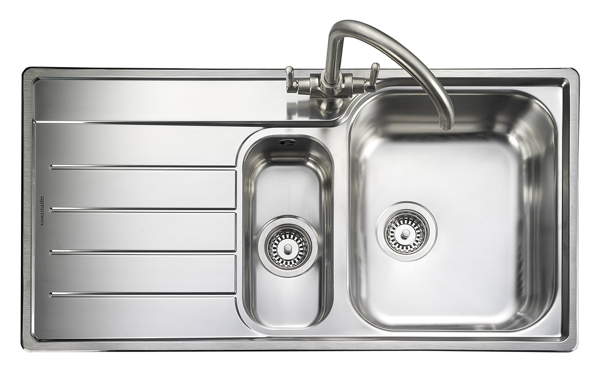 views from my kitchen sink rangemaster oakland 1 5 bowl stainless steel kitchen sink lh 8816