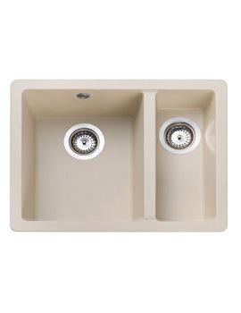 Rangemaster Paragon 1.5 Bowl Igneous Granite Undermount Kitchen Sink Stone