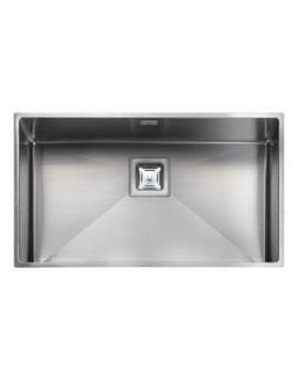Rangemaster Atlantic Kube 1 Bowl Undermount Kitchen Sink 730 x 430mm