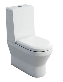 Britton Curve S30 Close Coupled WC With Angled Lid Cistern And Seat