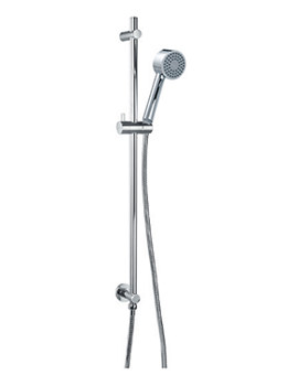 Flova Levo Single Function Shower Slide Rail Set With Wall Outlet