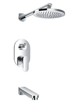 Flova Smart Manual Valve With Diverter-Overhead Shower And Bath Spout