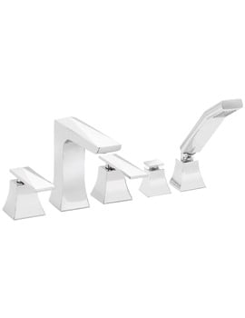 Heritage Hemsby Chrome 5 Taphole Bath Shower Mixer Tap