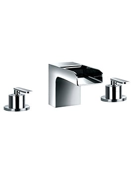 Flova Cascade Deck Mounted 3 Hole Bath Filler Mixer Tap