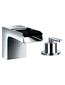 Flova Cascade Deck Mounted 2 Hole Bath Filler Mixer Tap