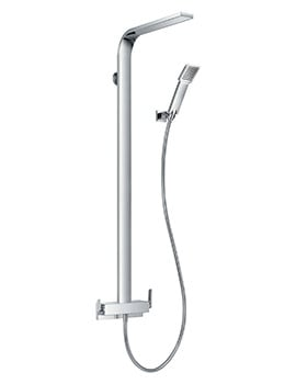 Flova Cascade Manual Shower Column With Overhead Shower And Handset Kit
