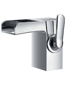 Flova Cascade Monobloc Single Lever Basin Mixer Tap With Waste