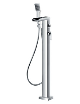 Flova Cascade Floor Standing Bath-Shower Mixer Tap With Handset And Hose