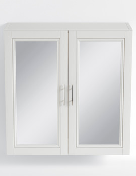 Heritage Caversham White Ash Finish 640mm Mirror Wall Cabinet