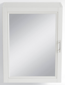 Heritage Caversham White Ash Finish 500mm Mirror Wall Cabinet