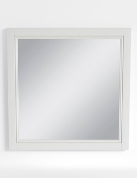 Heritage Caversham White Ash Finish 640mm Furniture Mirror
