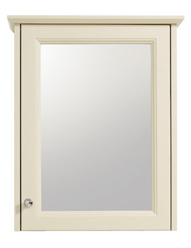 Heritage Caversham Oyster Finish Single Door Mirrored Wall Cabinet