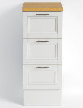Heritage Caversham White Ash Finish 320mm Traditional Drawer Unit