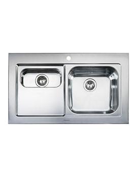 Rangemaster Mezzo 1.5 Bowl Stainless Steel Left Handed Kitchen Sink