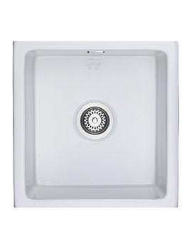 Rangemaster Rustique Large 1.0 Bowl Undermount Or Inset Ceramic Sink White