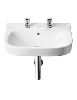 Roca Debba 550 x 440mm Wall Hung Basin With 2 Tap Holes
