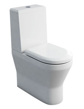 Britton Tall S48 Close Coupled WC With Angled Lid Cistern And Seat