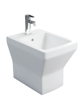 Britton Cube S20 Back To Wall Bidet White