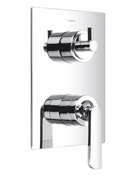 Flova Cascade Manual Concealed Shower Mixer Valve With 3 Way Diverter