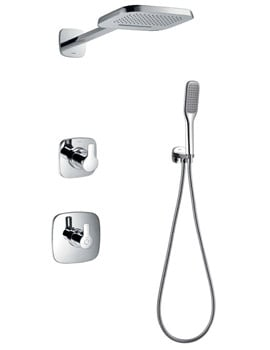 Flova Urban Thermostatic Valve With Diverter - 2 Mode Shower Head And Kit