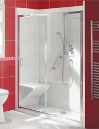 Balterley Bath Out Shower In 1700 x 700mm Enclosure Package