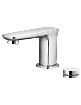 Flova Urban Electronic 2 Piece Basin Mixer Tap With Waste And Control Box