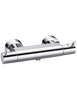 Flova Levo Wall Mounted Exposed Thermostatic Shower Mixer Valve