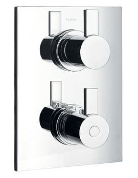 Flova Str8 Concealed Thermostatic Shower Valve With 3 Way Diverter