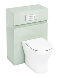 Britton Aqua Cabinets D300 Reef 600mm BTW WC Unit With Flush Plate