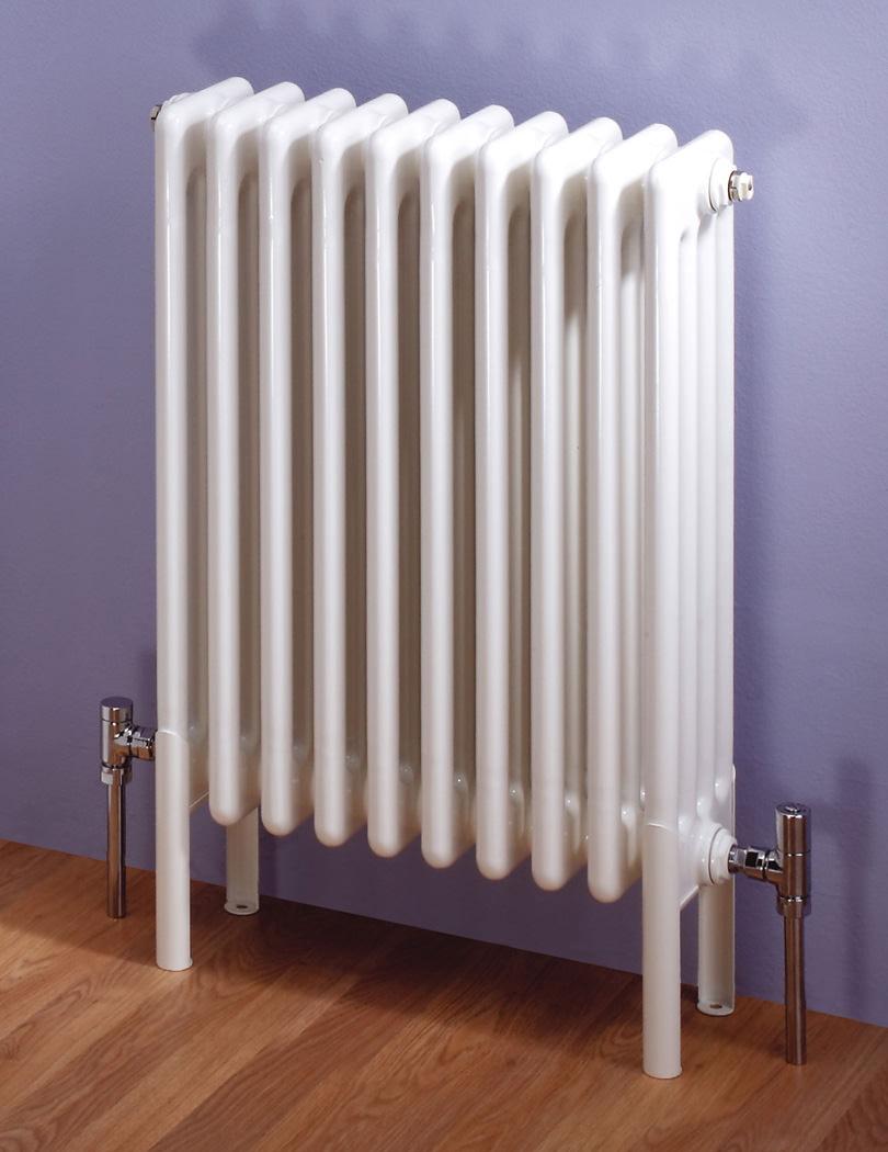 Bathroom Floor Radiators : Mhs multisec floor white mm column radiator