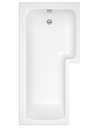 Beo Square 1700 x 850mm Right Hand Showerbath