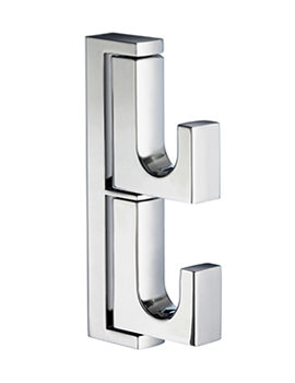 Smedbo Life Polished Chrome Swing Arm Double Towel Hook