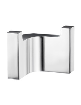 Smedbo Life Chrome 70.5 x 45mm Double Towel Hook