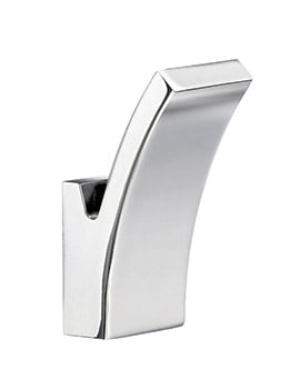 Smedbo Life Chrome 30 x 73mm Small Single Towel Hook Pair