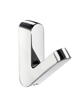 Smedbo Life Chrome 14 x 52mm Small Single Towel Hook Pair