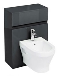 Britton Aqua Cabinet D300 Black Unit For Wall Hung Bidet