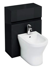 Britton Aqua Cabinet D300 Black Unit For Back To Wall Bidet