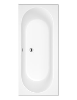 Beo Mineral 1700 x 750mm Round Double Ended Acrylic Bath
