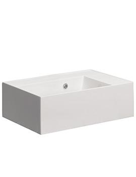Bauhaus Elite 500mm No Tap Hole White Cast Mineral Marble Basin