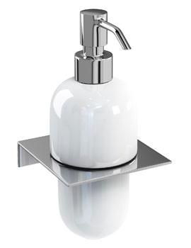 Britton Stainless Steel Shelf With Ceramic Soap Dispenser