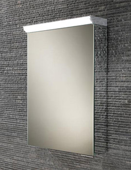 HIB Flux Compact 400 x 600mm LED Top Illuminated Mirror Cabinet