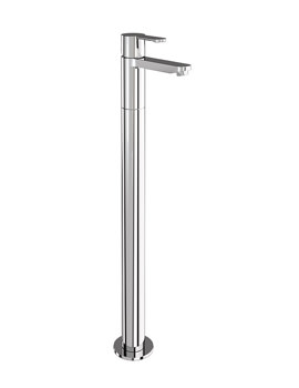 Britton Crystal Single Bath Filler Tap With Floor Standing Leg Chrome