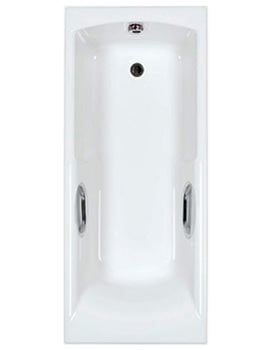 Carron Axis 5mm Acrylic Twin Grip Single Ended Bath 1500 x 700mm
