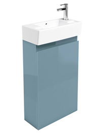 Britton Narrow Cloakroom Floor Mounted Ocean Unit And Right Hand Basin
