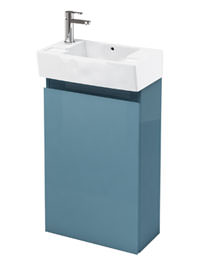 Britton Aqua Cabinets Deep Floor Standing Ocean Unit With LH Basin