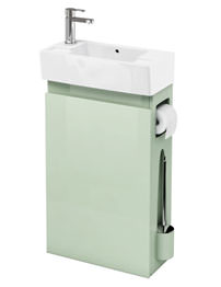 Britton All-in-One Floor Standing Reef Unit With LH Cloakroom Basin