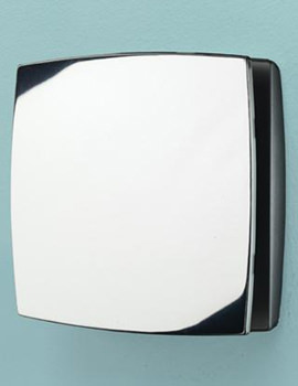 HIB Breeze Chrome Wall Mounted Extractor Fan With Timer
