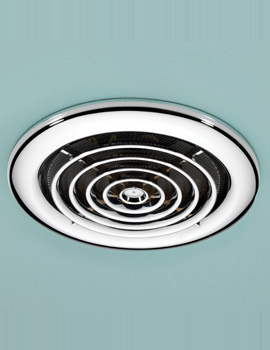 HIB Cyclone Chrome Wet Room Inline Extractor Fan