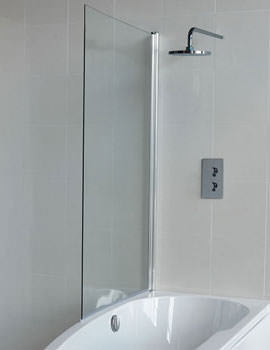 Britton Cleargreen EcoCurve Bathscreen 850 x 1450mm