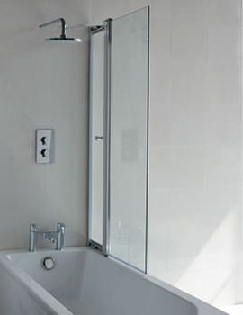 Britton Cleargreen 850 x 1450mm Hinged Bathscreen With Access Panel